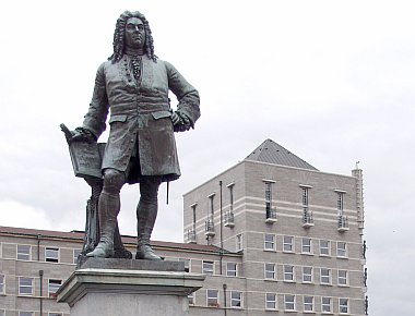 George Frederic Handel (composer) - his monument at the market place
